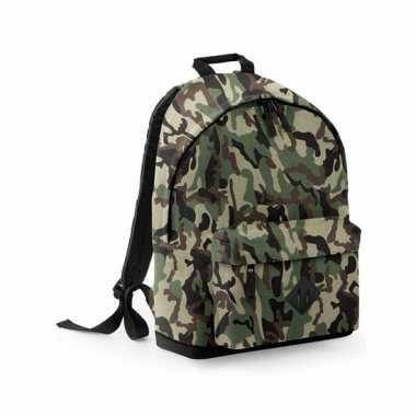 Camouflage schooltas/schooltas/rugzak kind