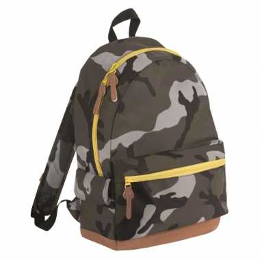 Junior camouflage schooltas schooltas/rugzak kind