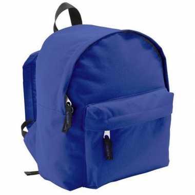 Kinder rugzak blauw liter schooltas