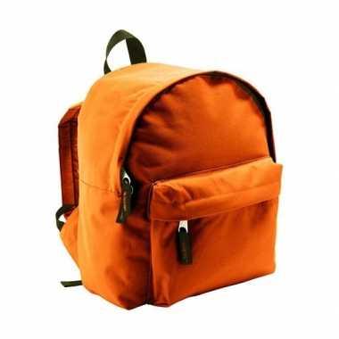 Kinder rugzak oranje liter schooltas