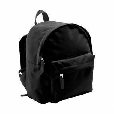 Kinder rugzak zwart liter schooltas