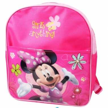Roze disney minnie mouse schooltas kind