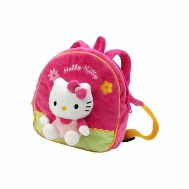 Roze hello kitty schooltas kind