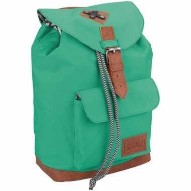 Vintage rugzak/schooltas mint groen kinderen