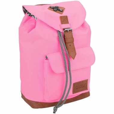 Vintage rugzak/schooltas roze kinderen