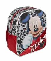 Rode disney mickey mouse schooltas kinderen