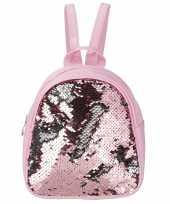 Rugzak schooltas roze pailletten meisjes kind